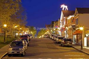 Bar Harbor Main Street by Night