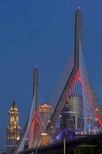 Behind the Boston Photography Image - 75 State Street, One International Place and Zakim Bridge