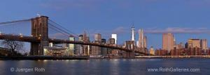Iconic Panorama Photography Picture of the New York Brooklyn Bridge