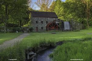 The Wayside Inn Grist Mill in Sudbury Central Massachusetts