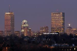 Boston Skyline from Bussey Hill