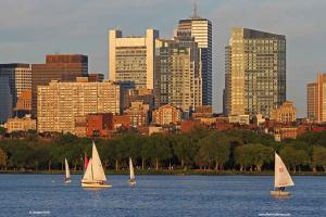 Charles River Sailing Boats and Boston Millennium Tower