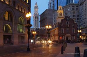 Old State House and Clock Tower of Boston