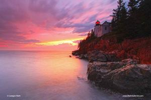 Maine Acadia National Park Bass Harbor Light Seascape Photography Art