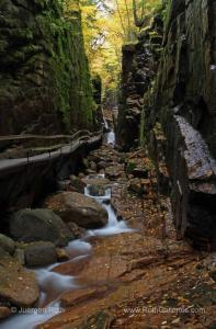 Behind the Nature Photography Image of The Flume Gorge in Franconia Notch State Park